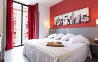 Tweepersoonskamer van Hotel Medicis in Barcelona