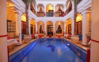 Zwembad van Riad Africa in Marrakech