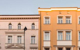 Buitenaanzicht van aparthotel Yarden in Krakau