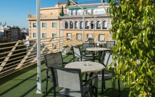 Dakterras hotel Derby in Sevilla