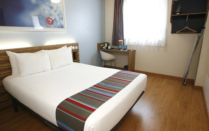 Tweepersoonskamer van Hotel Travelodge Poblenou in Barcelona