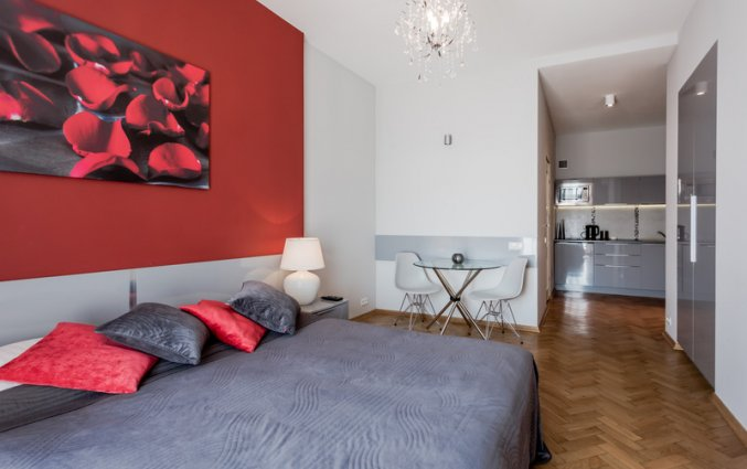 Slaapkamer van een appartement van Appartementen 4Seasons in Krakau
