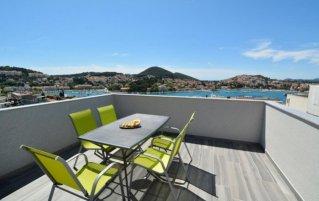 Terras van een appartement van appartementen Villa Rosa in Dubrovnik