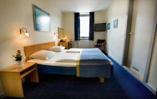 Tweepersoonskamer van hotel Maritime in Kopenhagen