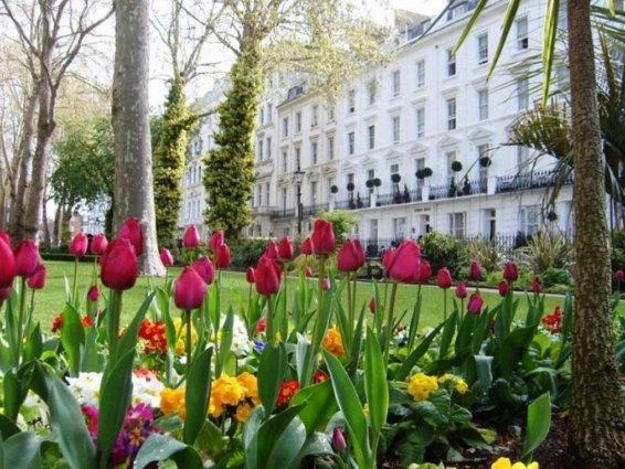 Gebouw van Hotel Chrysos in Londen