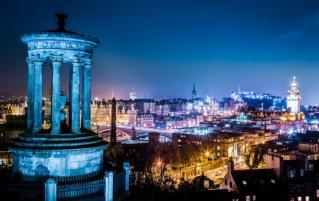 Edinburgh - Uitzicht nacht