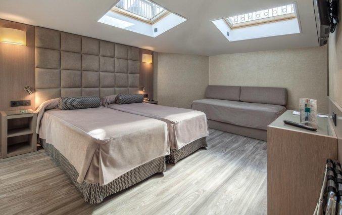 Tweepersoonskamer van Hotel Suizo Barcelona