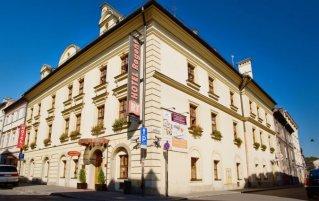 Buitenkant van Hotel Regent in Krakau