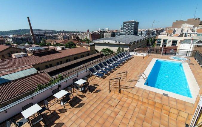 Dakterras met buitenzwembad van Hotel Sunotel Junior in Barcelona