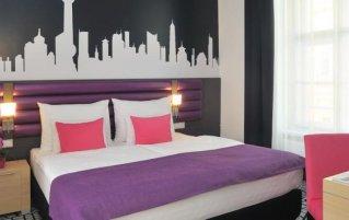 Tweepersoonskamer van Hotel Cosmo City in Budapest