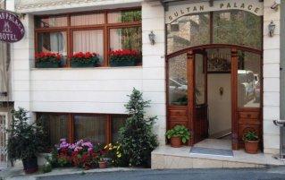 Vooraanzicht van Hotel Sultan Palace in Istanbul