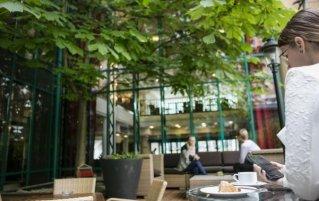 Binnenplein van hotel Arcotel Wimberger in Wenen