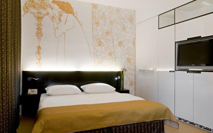 Tweepersoonskamer van Boutique Hotel Alma in Wenen