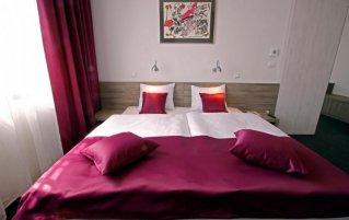 Tweepersoonskamer van hotel Meksiko in Ljubljana