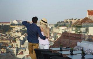 Uitzicht van Hotel The Lumiares in Lissabon