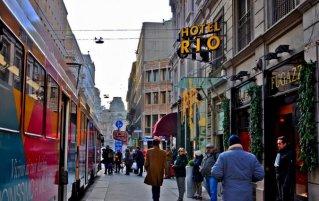 Entree van Hotel Rio in Milaan