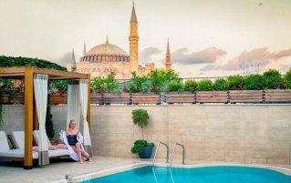 Uitzicht vanaf Sura Design Hotel & Suites in Istanbul