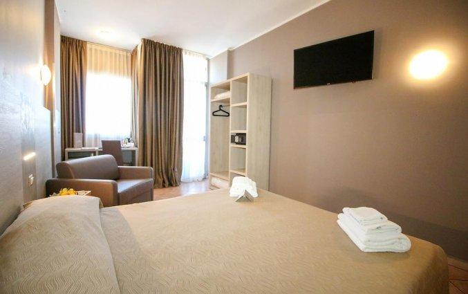Tweepersoonskamer van hotel Miramonti Turijn