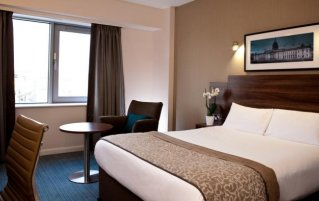 Slaapkamer van Hotel Jurys Inn in Dublin