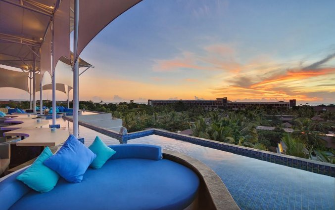Uitzicht van hotel Vin Sky in Bali
