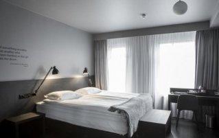 Slaapkamer van hotel Skuggi by Keahotels IJsland