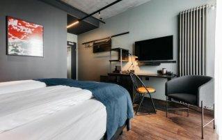 Slaapkamer van hotel Exeter by Keahotels in Reykjavik