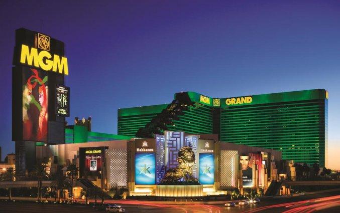 Buitenkant van hotel MGM Grand