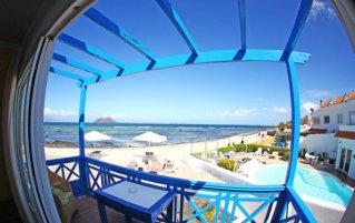 Uitzicht van appartementen Punta Elena Beach in Fuerteventura