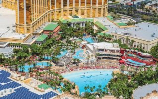Bovenaanzicht van resort Mandalay Bay and Casino