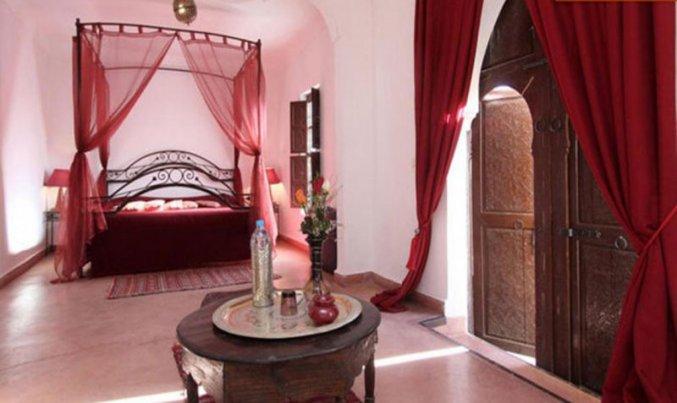 Slaapkamer van Riad Sidi Ayoub in Marrakech