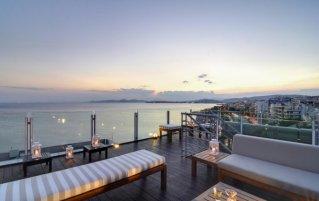 Uitzicht van Hotel Poseidon in Athene