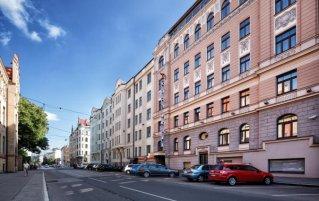 Buitenaanzicht van City Hotel Teater in Riga