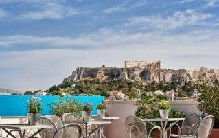 Dakterras van Hotel Arion Athens in Athene