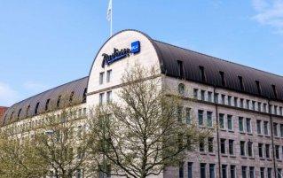 Gebouw van Hotel Radisson Blu Bremen in Bremen