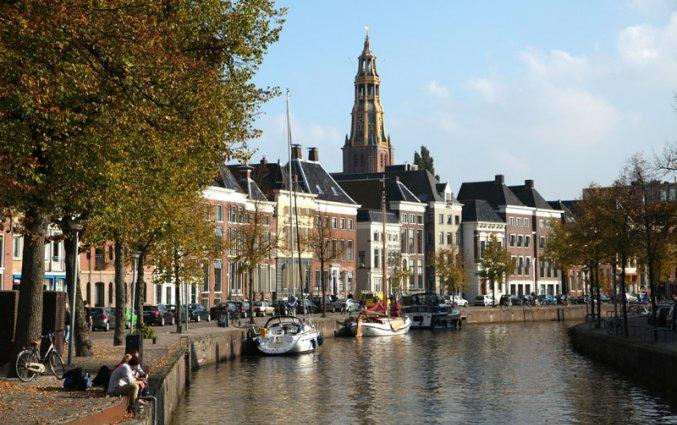 Groningen - Gracht met Martinitoren