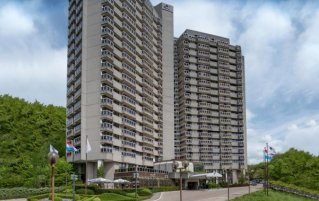 Vooraanzicht van Hotel Doubletree By Hilton Luxemburg