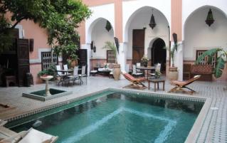 Binnentuin van Riad Barroko Marrakech