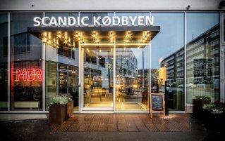 Voorkant van Hotel Scandic Kodbyen Kopenhagen