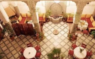 Lobby van Riad Dar Dmana in Fez