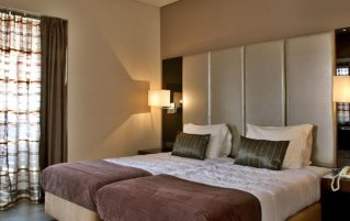 Tweepersoonskamer van Hotel Turim Restauradores in Lissabon