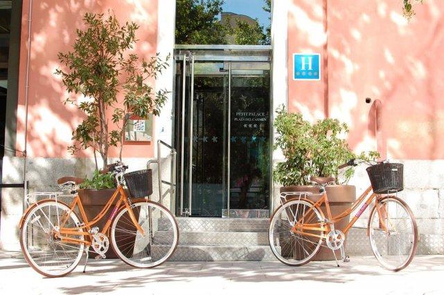 Ingang van Hotel Petit Palace Plaza del Carmen Madrid