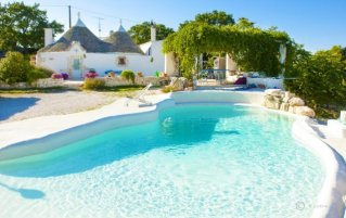 Tuin van Bed & Breakfast Trulli Terra Magica in Puglia