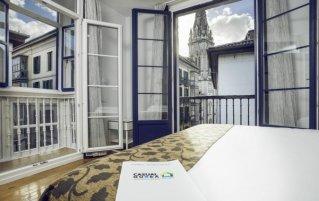 Kamer in Hotel Casual Hostal Gurea met uitzicht op Bilbao