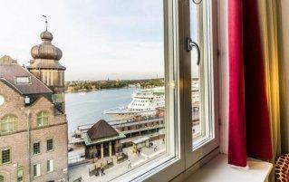 Uitzicht vanuit een tweepersoonskamer van Hotel Scandic Sjöfartshotellet Stockholm