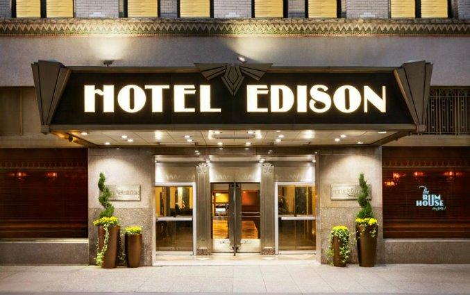 Voorgevel van Hotel Edison in New York