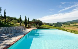 Zwembad van Bed and breakfast Poderi Arcangelo in Toscane