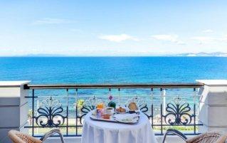 Uitzicht op zee van Hotel Coral in Athene
