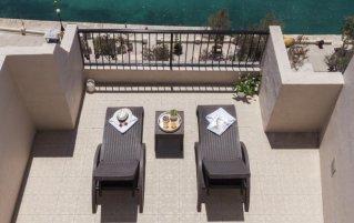 Terras van hotel Sliema in Malta
