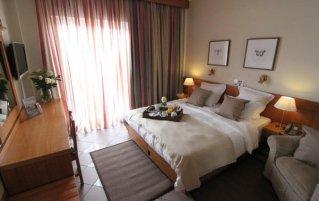 Tweepersoonskamer van Hotel Achillion in Athene