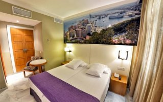 Tweepersoonskamer van Hotel Atarazanas Boutique in Malaga